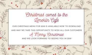 Christmas menu Limekiln